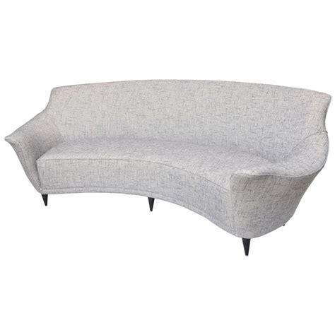 Curved Back Sofa Ico Parisi Curved Back Sofa Manufactured By Ariberto Colombo For Sale At 1stdibs