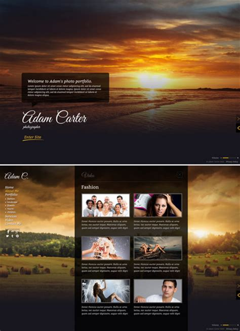 photo gallery html5 gallery website template best