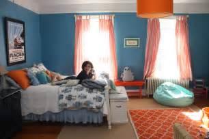 Bedroom killer nautical blue and orange bedroom decoration using anchor bedroom wall decor