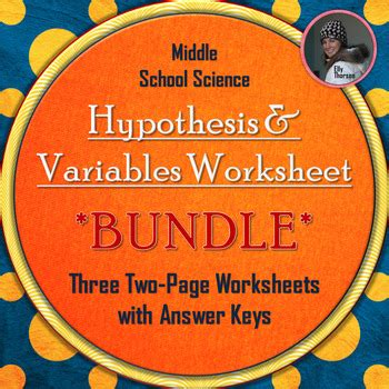 Variables And Hypothesis Worksheet