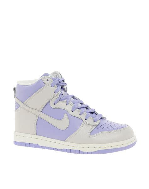 purple high top sneakers lyst nike dunk 08 high top sneakers in purple