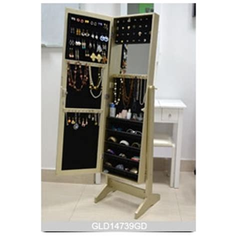 middle east style wooden jewelry storage cabinet with