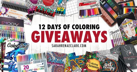 12 Days Of Giveaways Prizes - 12 days of coloring giveaways over 300 in coloring prizes to be won