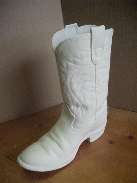 ceramic boot vase unpainted ceramic bisque you paint boys cowboy boot vase