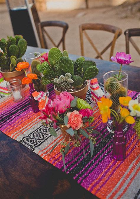 mexican themed table decorations mexican themed wedding inspiration b lovely events