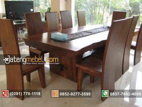 Meja Kayu Meh toko furniture jual meja makan trembesi blok solid wood kayu meh jateng mebel