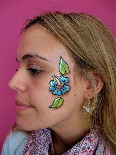 flower makeup painting hibiscus surf flower painting flickr photo