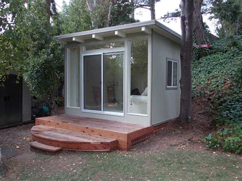 build a mini house in the backyard 9 sources for midcentury modern sheds prefab diy kits