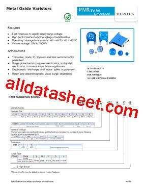 transistor a102 pdf mvr05a102kg s datasheet pdf meritek electronics corporation