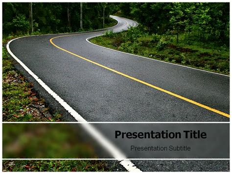 road powerpoint template powerpoint presentation templates