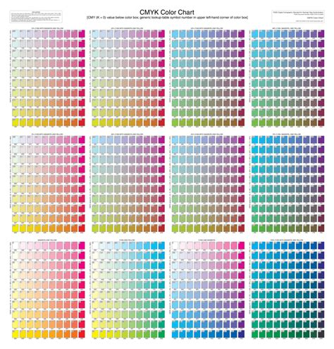 cmyk color chart 2018 color chart fillable printable pdf forms handypdf