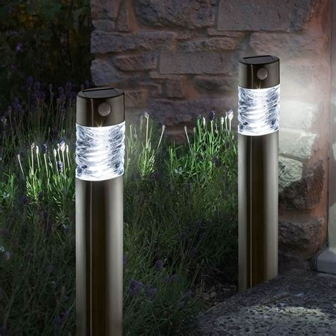 Solar Garden Lights Pharos Pack Of 2 Garden Lights Uk