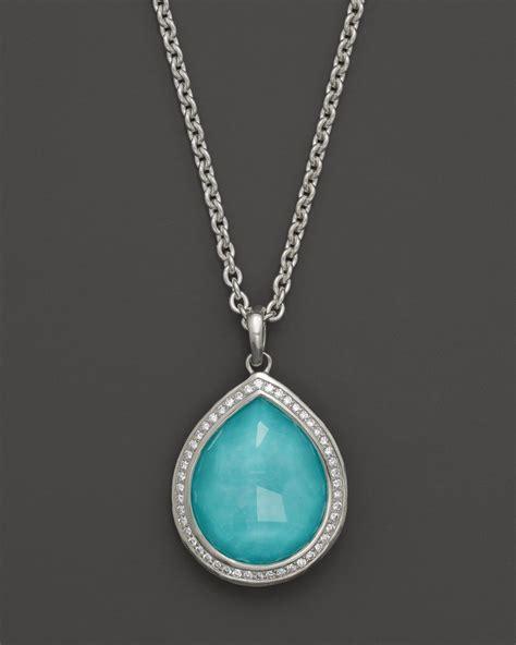 ippolita sterling silver stella teardrop pendant necklace