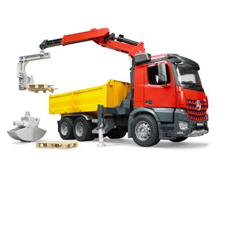 bruder toys mercedes bruder toys mercedes arocs truck with crane and 2