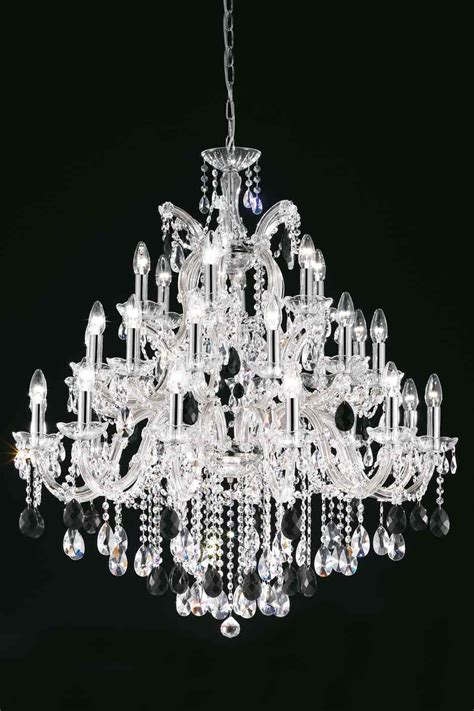 kronleuchter occasion clear bohemian chandelier in chrome plated metal
