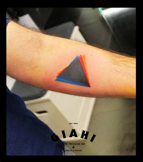 three triangle tattoo 67 best triangle tattoos ideas