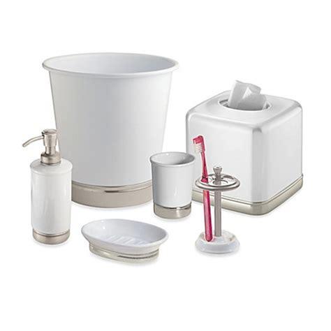interdesign bathroom accessories interdesign 174 york toothbrush holder in matte white bed