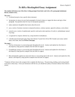 to kill a mockingbird theme essay assignment of mice and men essay assignment