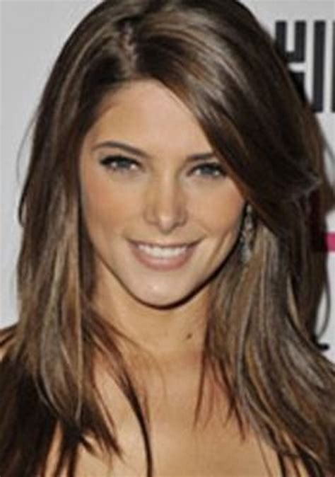 brunette hairstyles wiyh swept away bangs medium brown hairstyles