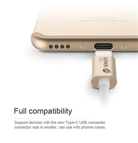 Wsken 3 0 Metal Data Usb Cable Type C For Nexus 6p 5x Mi4c On wsken type c 3 0 charging data sync metal cable gold