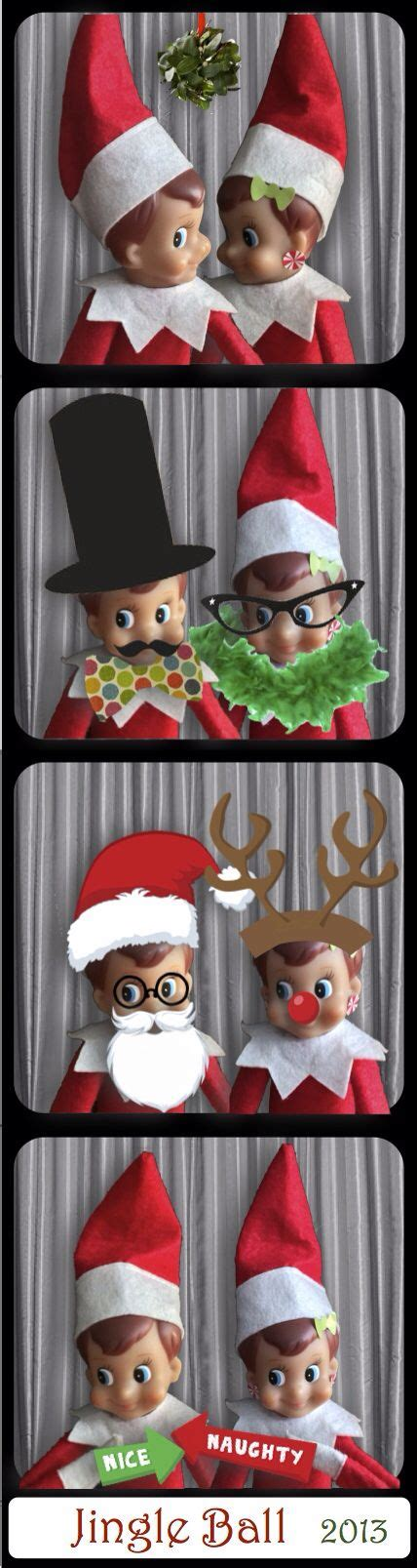 free printable elf on the shelf photo booth elf on the shelf photo booth christmas pinterest