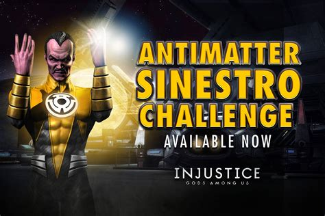 injustice gods among us ios challenge antimatter sinestro challenge for injustice mobile