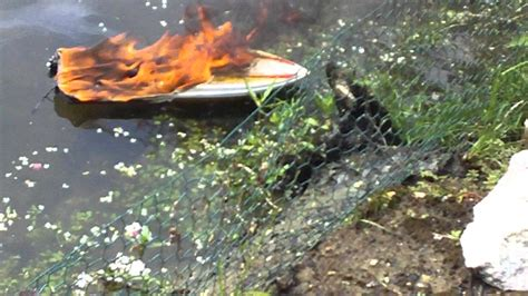 rc boats exploding unsinkable speedboat donzi rc boat on fire proboat