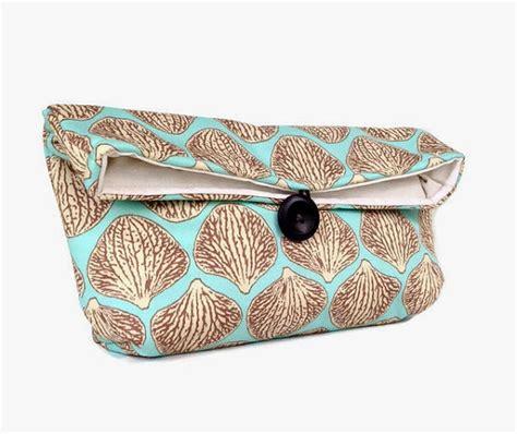 Handmade Clutch Purse - handmade makeup bag blue and clutch purse great for