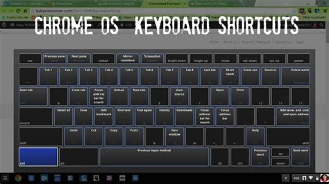 chrome keyboard shortcuts chromebook touchpad tips and keyboard shortcuts