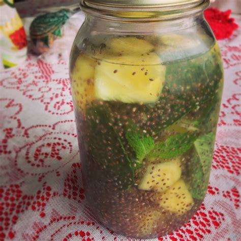 Chia Seed Detox Water Recipe by Pineapple Mint And Chia Seed Water Lighter Side