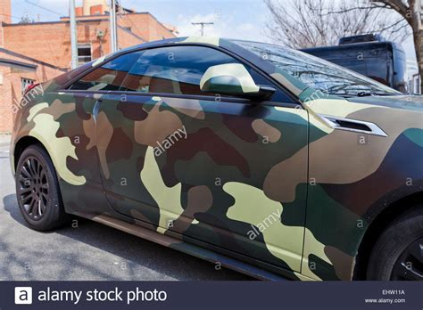 army pattern car car with military camouflage pattern wrap usa stock