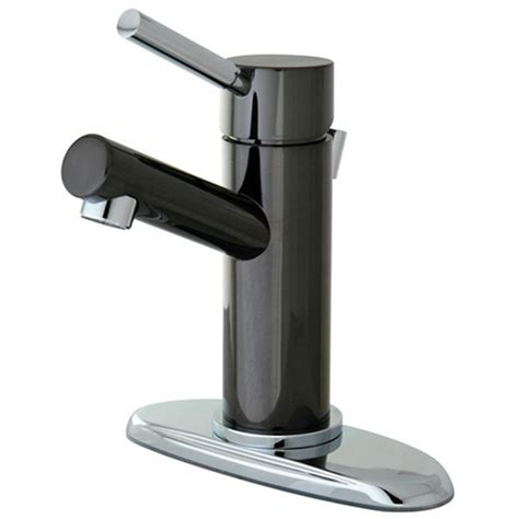 Kingston Brass 4 In Centerset Single Handle Bathroom Black Faucets For Bathroom