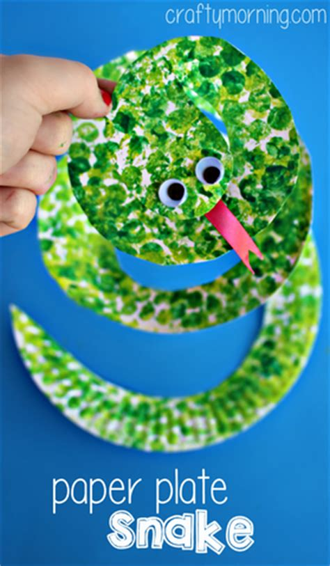 Paper Snake Craft - paper plate crafts for