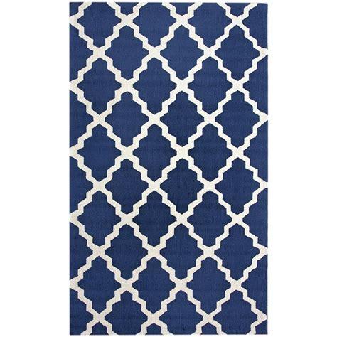 navy blue area rug njhk03f 76096 nuloom njhk03f 76096 navy blue trellis moderna area rug goingrugs