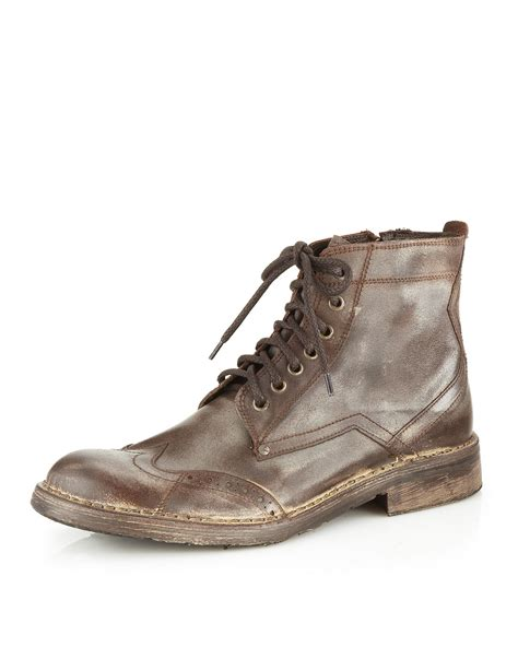 nason boots nason hide boot in brown for dk brown lyst