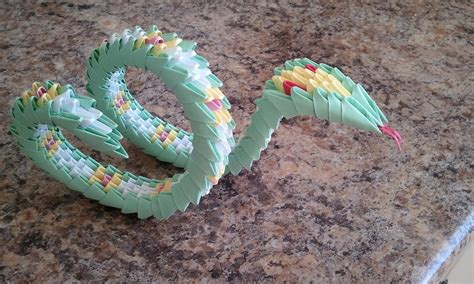 Origami Snake - how to make 3d origami snake part 1