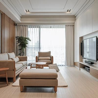 simple korea style living room  interior rendering