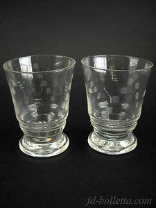 bicchieri antichi bicchieri antichi in vetro molato coppia di vecchi