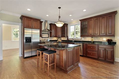 kitchen color ideas with cherry cabinets white kitchen cherry wood island home design and decor
