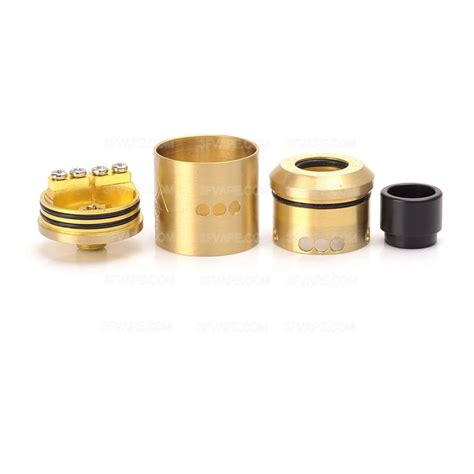 Goon Rda 22 Mm goon style brass 22mm rda rebuildable atomizer w wide bore drip tip
