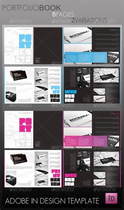 print portfolio template portfolio book 8 pages graphicriver