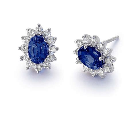 the gallery for gt sapphire and stud earrings