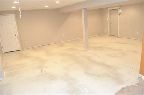 how to level a concrete slab or basement floor for tile