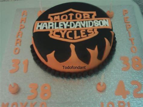 Harley Davidson 0086 todofondant tarta harley davidson decorada con fondant