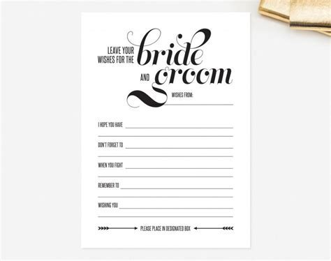 Wedding Mad Libs Card ? Leave Your Wishes For The Bride
