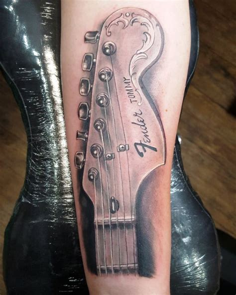 guitar neck tattoo designs 35 musical guitar designs for you to try instaloverz