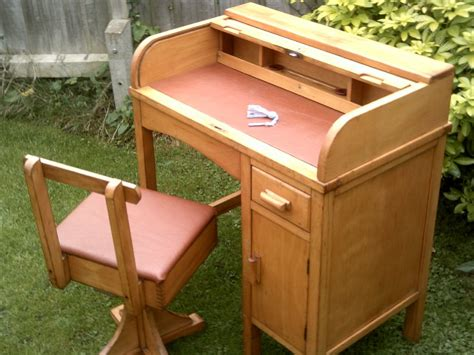 antique childs roll top desk for sale child s roll top desk with swivel chair antiques atlas