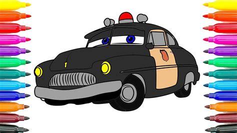 Disney Cars 3 Sheriff how to draw sheriff cars 3 disney pixar sheriff cars 3