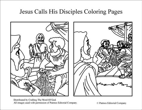 Jesus Calls His Disciples Coloring Pages 171 Crafting The
