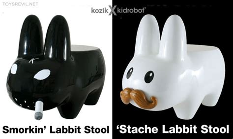 Smorkin Labbit Stool by Smorkin Stache Labbit Stools By Frank Kozik X Kidrobot